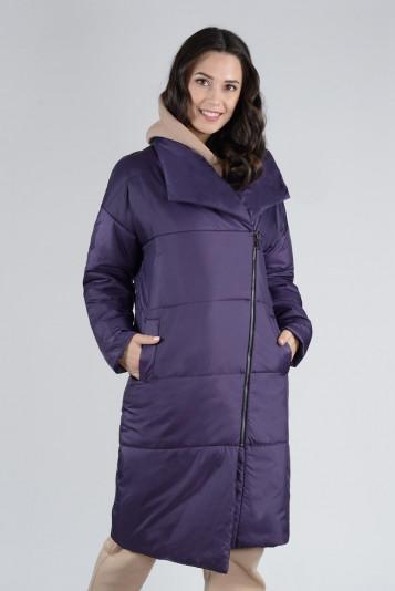 Пальто деми 13674 черника