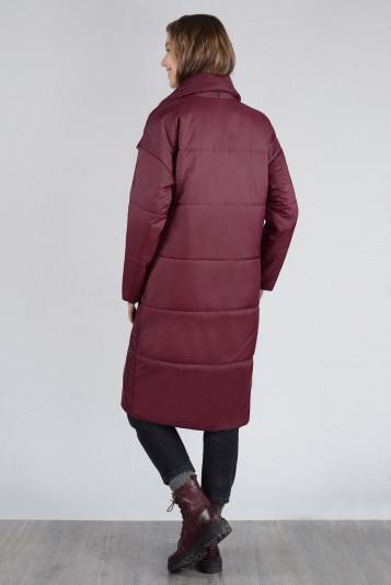 Пальто деми 13674 бордо