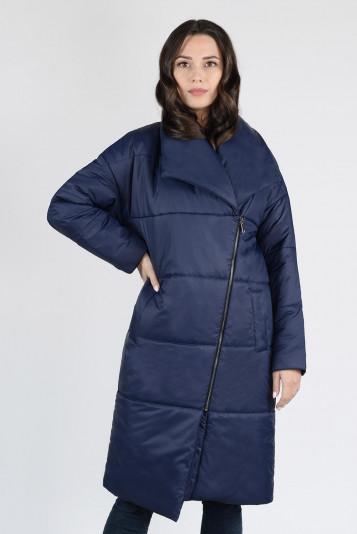 Пальто деми 13674 синее