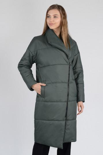 Пальто деми 13674 зеленое