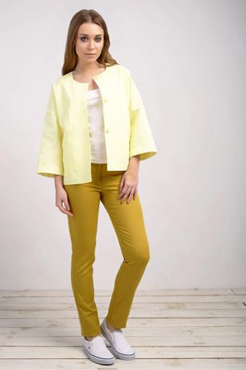Жакет 53278 лимон