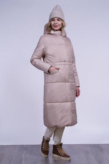 Пальто зимнее 13688 беж
