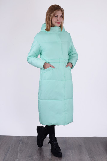 Пальто зимнее 13688 мята