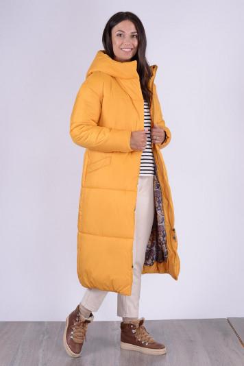 Пальто зимнее 13688 охра