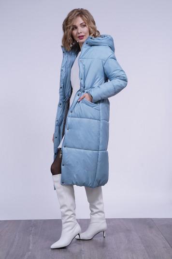 Пальто зимнее 13688 сизое