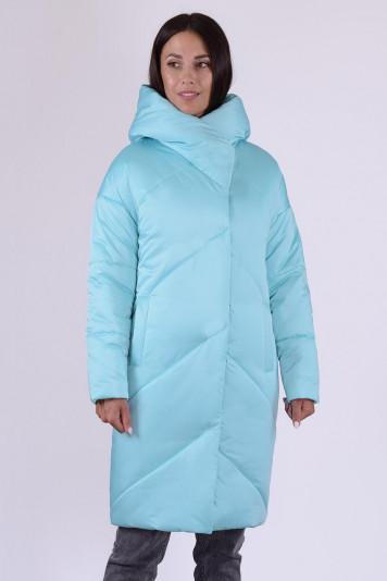 Полупальто зимнее 13682 голубое