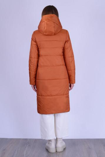 Пальто деми 13678 кирпичное