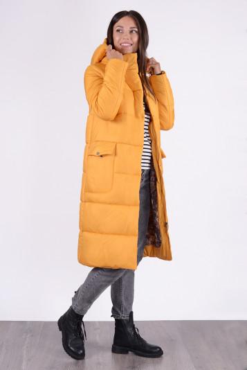Пальто зимнее 13687 охра