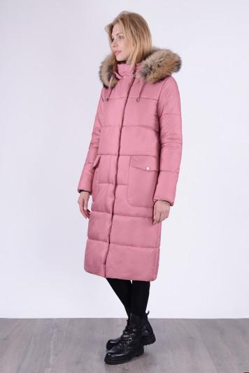 Пальто зимнее 10687 ягодное