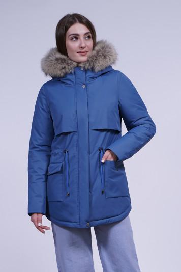 Куртка зимняя 10684 деним