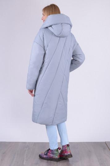Пальто зимнее 13693 серое