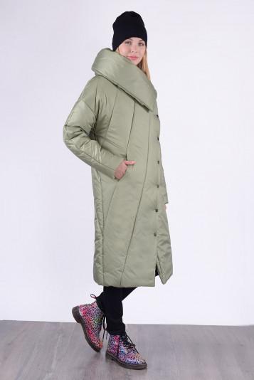 Пальто зимнее 13693 оливковое
