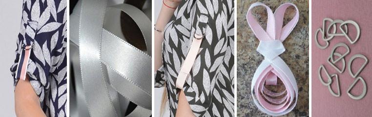 Ленты, полукольца - яркие акценты для летнего платья