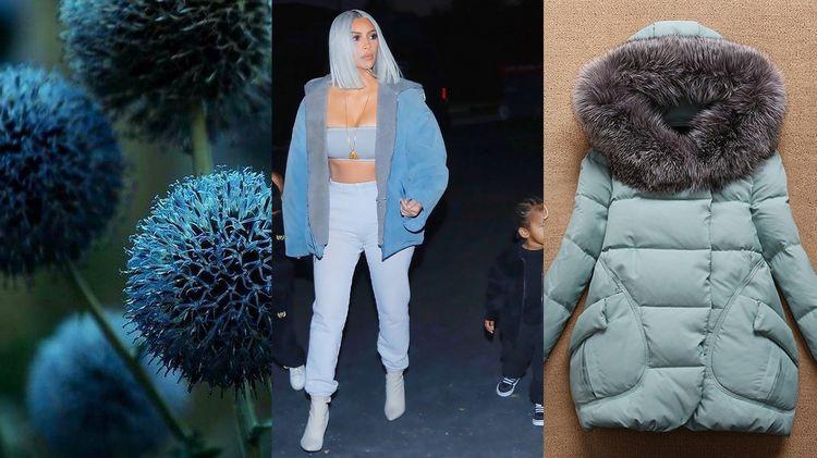 Сизый цвет в одежде 2018