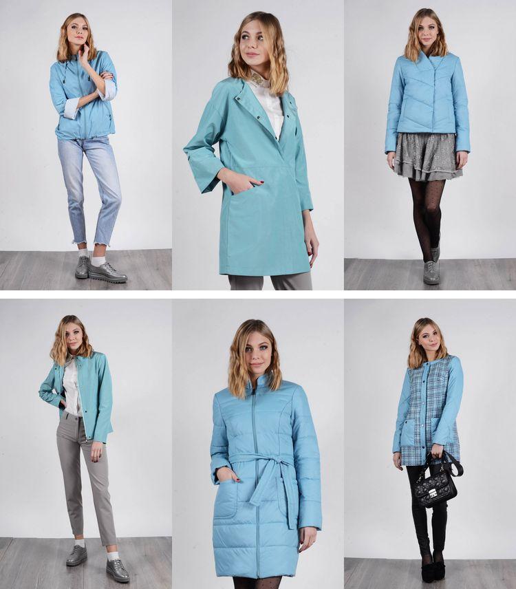 Twin Tip 2018 - сизый цвет в женских куртках, пальто и плащах