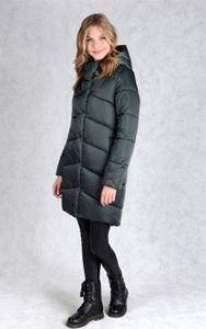 Матово-зеленый зимний пуховик - куртка
