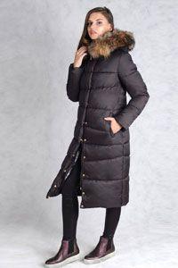Зимнее пальто черного цвета