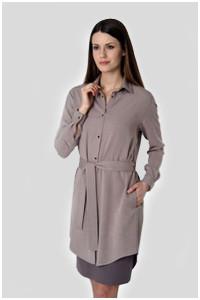 Универсальное платье-рубашка хаки