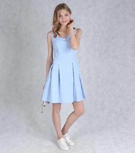 Сказочное платье голубого цвета