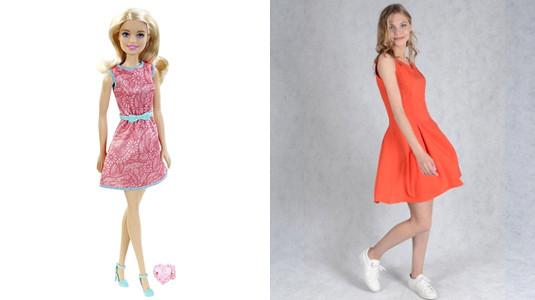 Легкое платье кораллового цвета