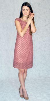 Платье цвета марсала из гипюра