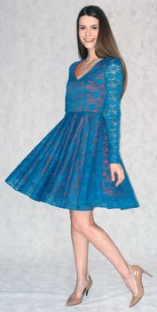 Легкое платье из гипюра