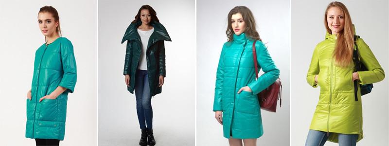 Женские пальто освежающего зеленого цвета