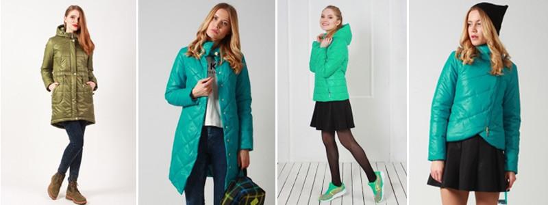 Все оттенки зеленого цвета в куртках и пальто