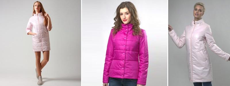 Модные розовые пальто и куртки