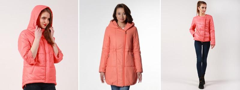 Коралловые пальто и куртки