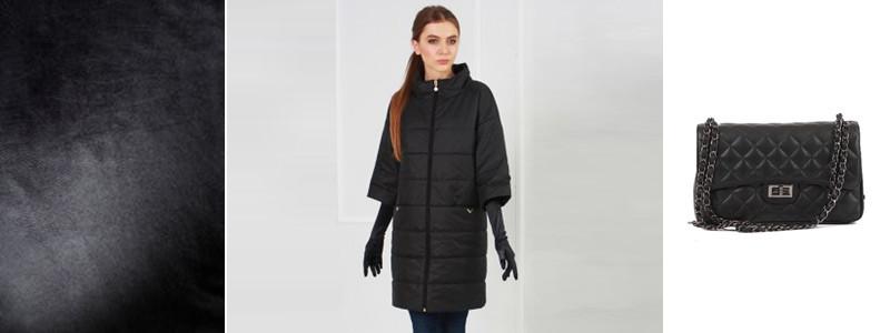 Матовый тотал черный лук в куртках