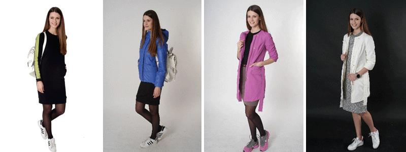 Модная одежда в духе спортивного шика