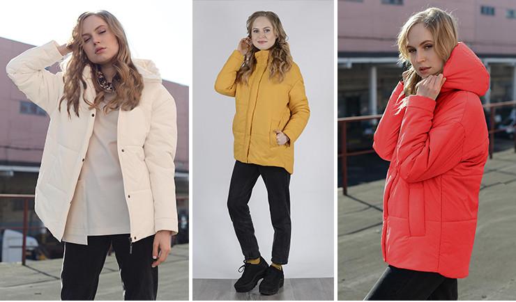 Куртка демисезонная женская с удлиненной спинкой