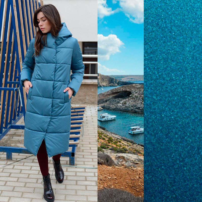 Пальто женское цвета лагуна