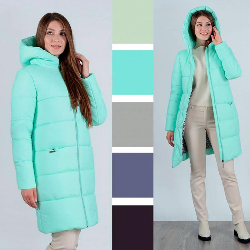 Пальто зимнее светлое